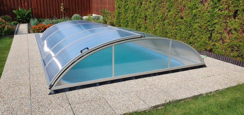 Zastřešení bazénu Saturn hliníkové
